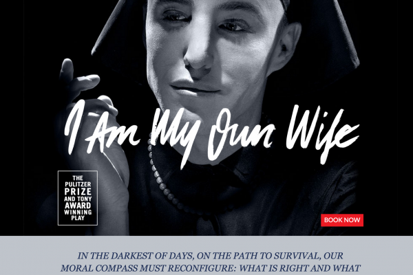 Website designed for I Am My Own Wife