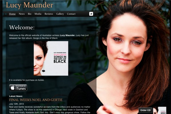 Website designed for Lucy Maunder