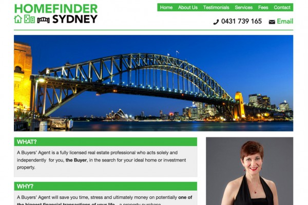Website designed for Home Finder Sydney
