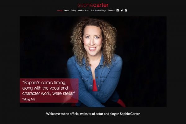Website designed for Sophie Carter