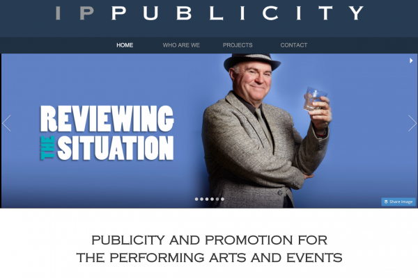 Website designed for IP Publicity