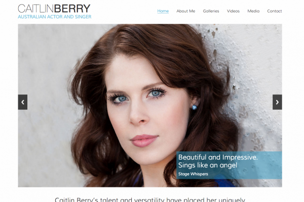 Website designed for Caitlin Berry