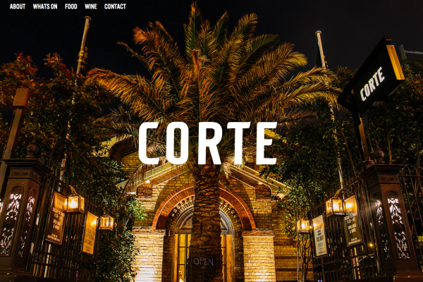 Website designed for Corte