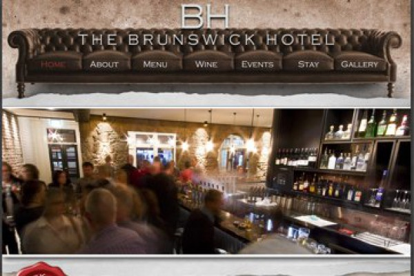 Website designed for The Brunswick Hotel