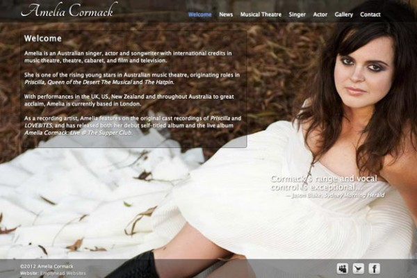 Website designed for Amelia Cormack