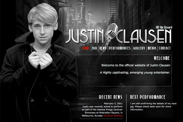 Website designed for Justin Clausen