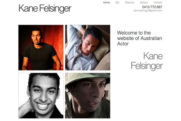 Website designed for Kane Felsinger