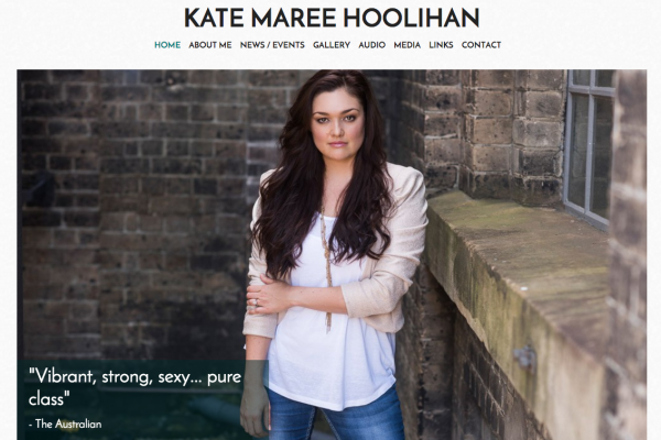Website designed for Kate Maree Hoolihan