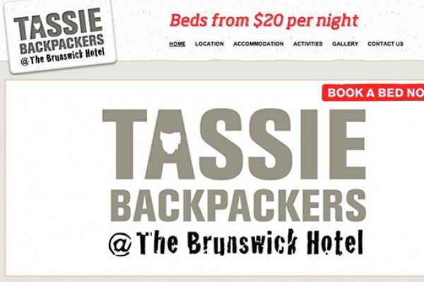 Website designed for Tassie BackPackers