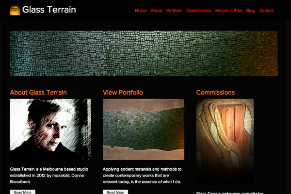Website designed for Glass Terrain