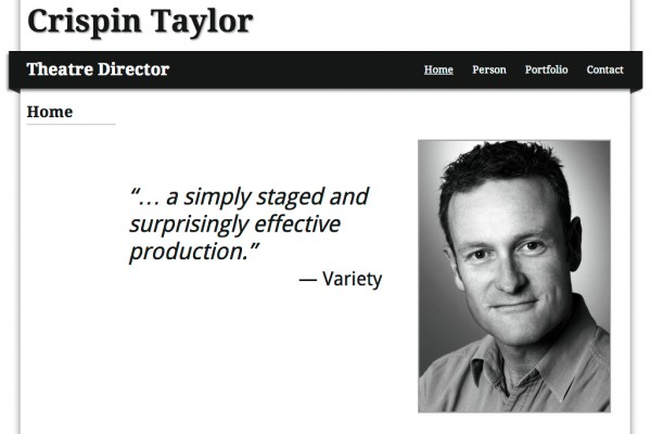 Website designed for Crispin Taylor