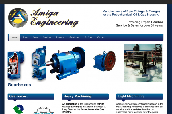 Website designed for Amiga Engineering