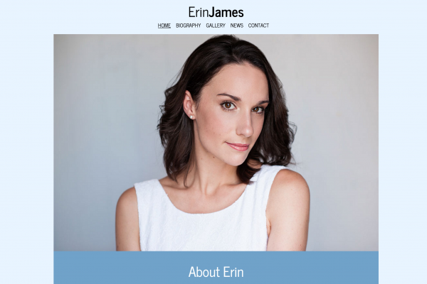 Website designed for Erin James