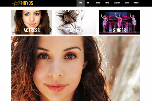 Website designed for Kat Hoyos