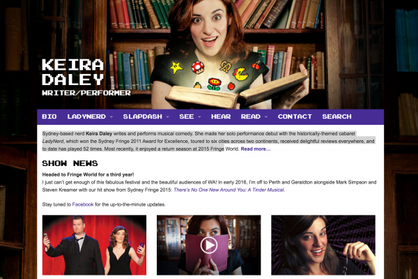 Website designed for Keira Daley