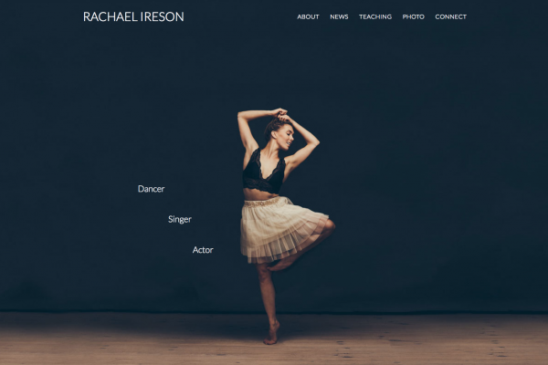 Website designed for Rachael Ireson