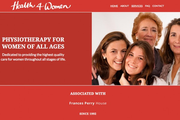 Website designed for Health 4 Women