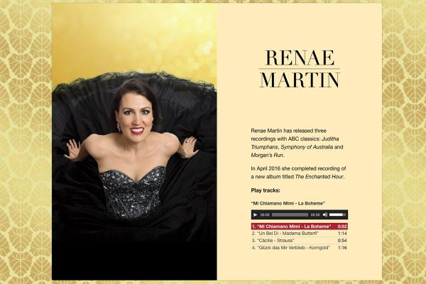 Website designed for Renae Martin