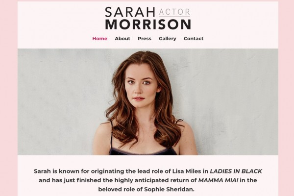 Website designed for Sarah Morrison
